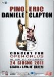 Eric Clapton & Pino Daniele – 24 June 2011 – Cava De' Tirreni (SA)Stadio Simonetta Lamberti