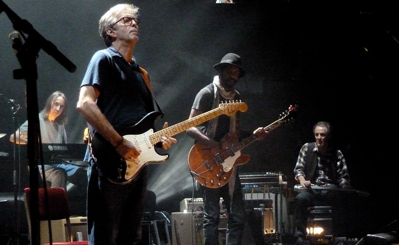20 May 2013 Royal Albert Hall London - Chris Stainton, Gary Clark Jr., Greg Leisz and Eric Clapton