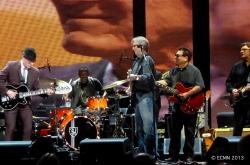 Andy Fairweather Low, Steve Jordan, Eric Clapton, Cesar Rosas and Robbie Robertson