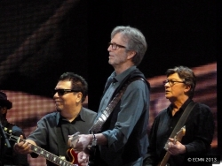 Cesar Rosas, Eric Clapton and Robbie Robertson