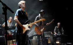 20 May 2013 Royal Albert Hall London - Chris Stainton, Gary Clark Jr., Greg Leisz and Eric Clapton