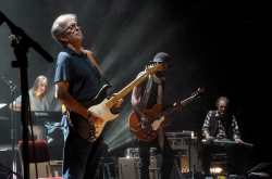 20 May 2013 Royal Albert Hall London - Gary Clark Jr., Greg Leisz and Eric Clapton