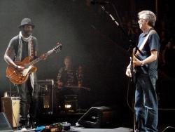 20 May 2013 Royal Albert Hall London - Gary Clark Jr. and Eric Clapton